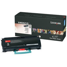 Original Lexmark X463A21G Laser Toner Cartridge - Black - 3,500 Page