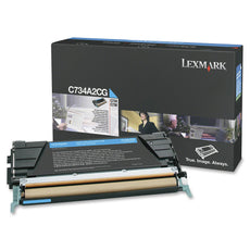 OEM Lexmark C734A2CG Toner Cartridge - Cyan - 6,000 Yield