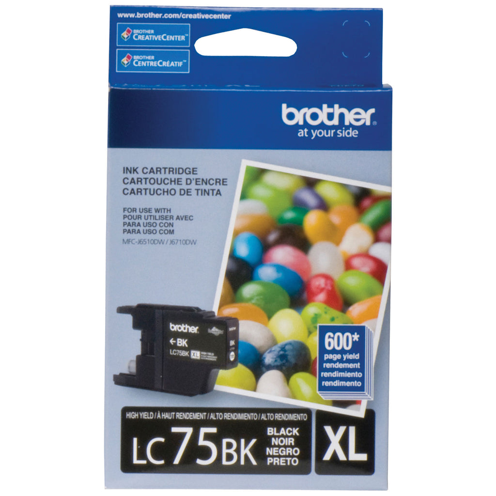 Brother LC75BKS OEM Ink Cartridge - Black - 600 Pages