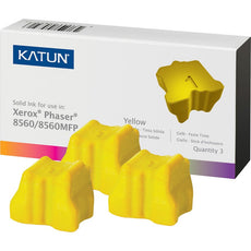 Compatible Xerox 108R00725 Solid Ink For Phaser 8560 Yellow (Katun) 3PK - 3.4K