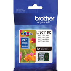 Original Brother LC3011BK Ink Cartridge Single Pack - Black - 200 Pages