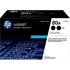 Original HP 80A, CF280AD1 Toner Cartridge - Black - 2560 Pages (Per Cartridge) - 2 Pack