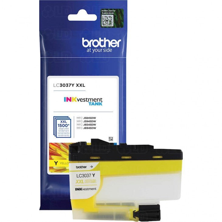 OEM Brother LC3037Y Super High-yield Ink Cartridge - Yellow - 1.5K