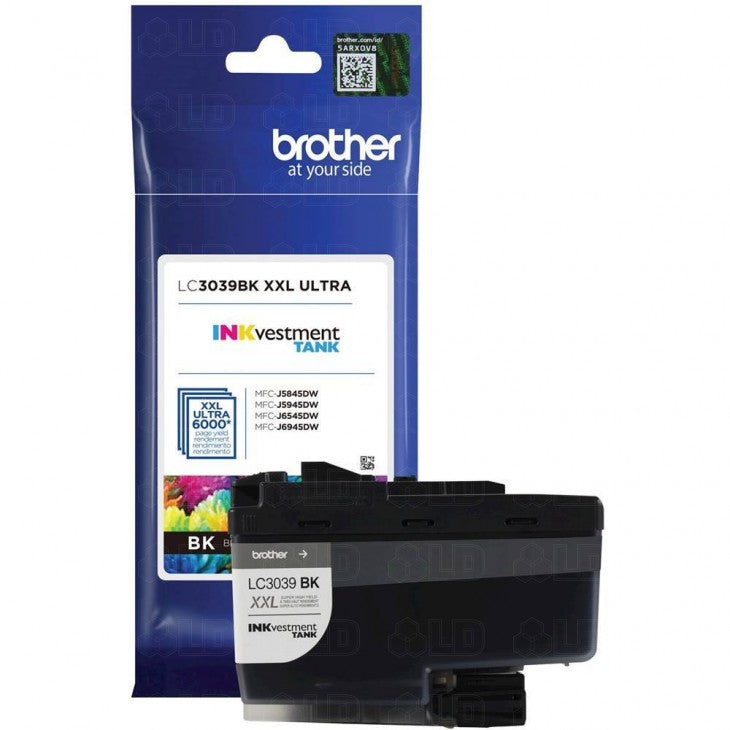 Brother LC3039BK OEM Ultra Ink Cartridge - High Yield - Black - 6K