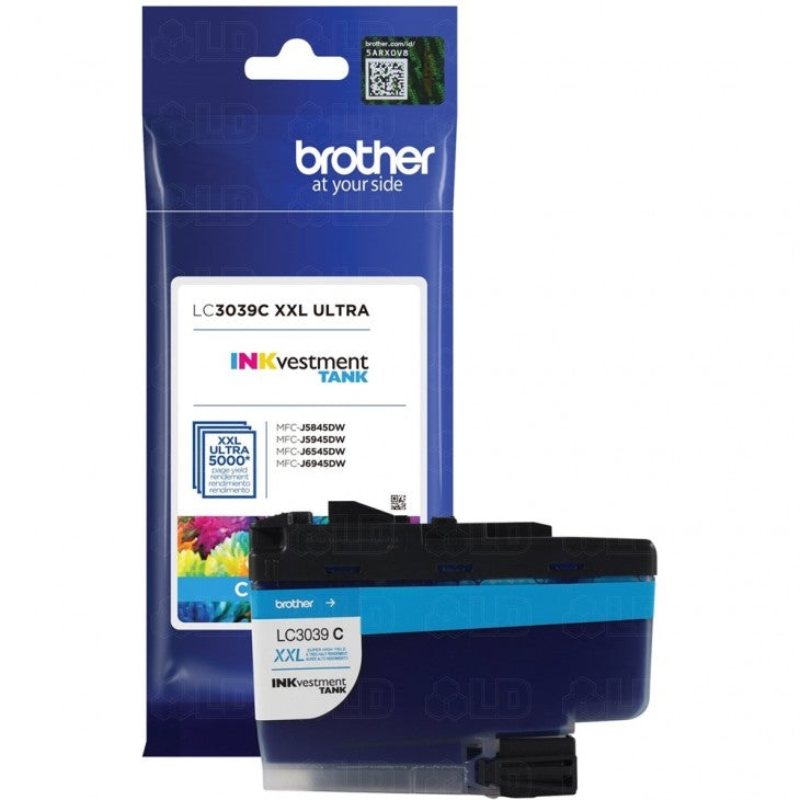 Brother LC3039C OEM Ultra Ink Cartridge - High Yield - Cyan - 5K