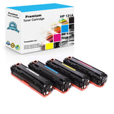 Compatible HP 131A, 131X Toner Cartridges CF210X, CF211A, CF212A, CF213A - 4 Pack