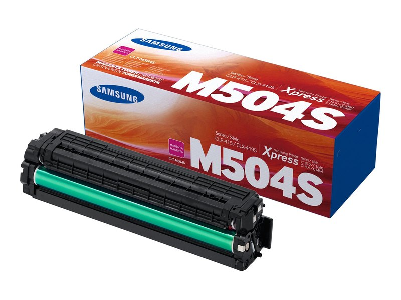 Original Samsung CLT-M504S, SU296A Laser Toner Cartridge - Magenta - 1800 Pages