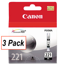 OEM Canon CLI-221BK, 2946B001-K lnk Cartridge - Black - 3 / Pack