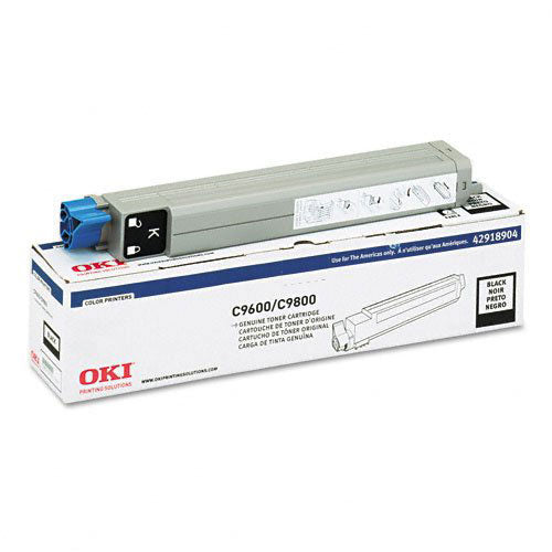 Okidata 42918904 OEM Toner Cartridge For C9600 Black - 15K