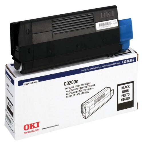 Okidata 43034804 OEM Toner Cartridge For C3200 Black - 1.5K