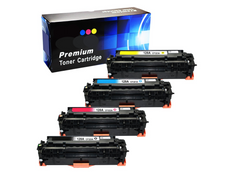 Compatible HP 128A Toner Cartridges for CE320A, CE321A, CE322A, CE323A - Value Pack