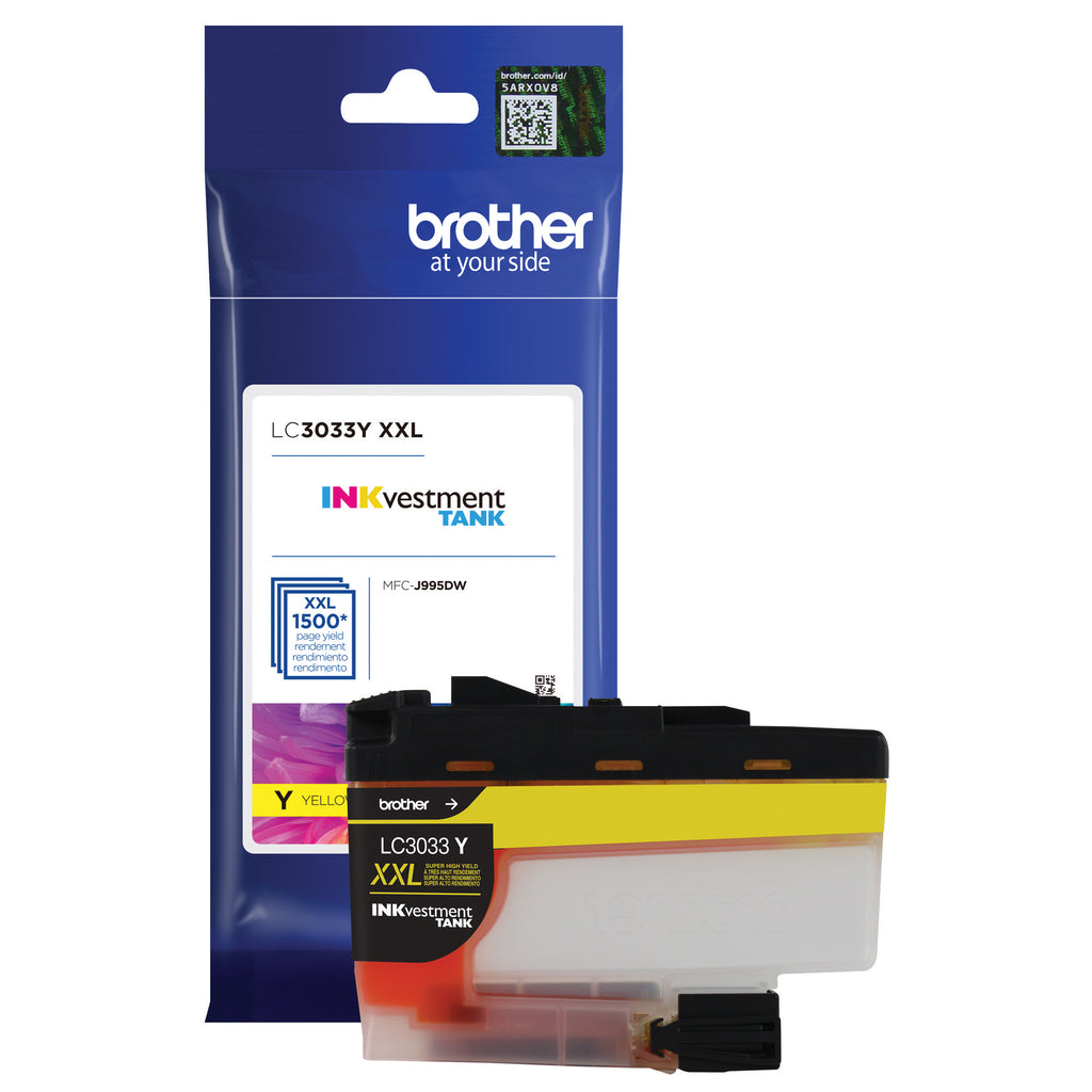OEM Brother LC3033Y Ultra Ink Cartridge - High Yield - Yellow - 1.5K