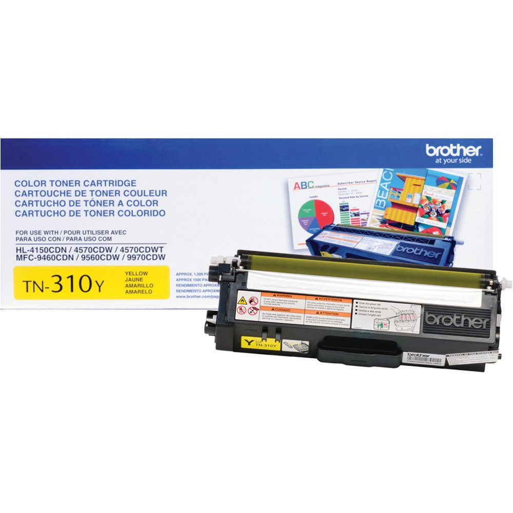 OEM Brother TN-310Y, TN310Y Toner Cartridge For HL-4150CDN Yellow - 1.5K