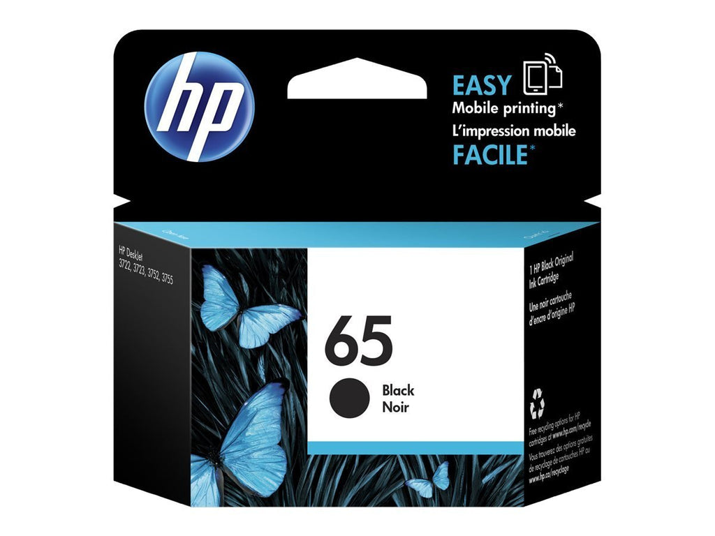 HP 65, N9K02AN OEM Ink Cartridge - Black - Standard Yield - 200 Page - 1 Pack