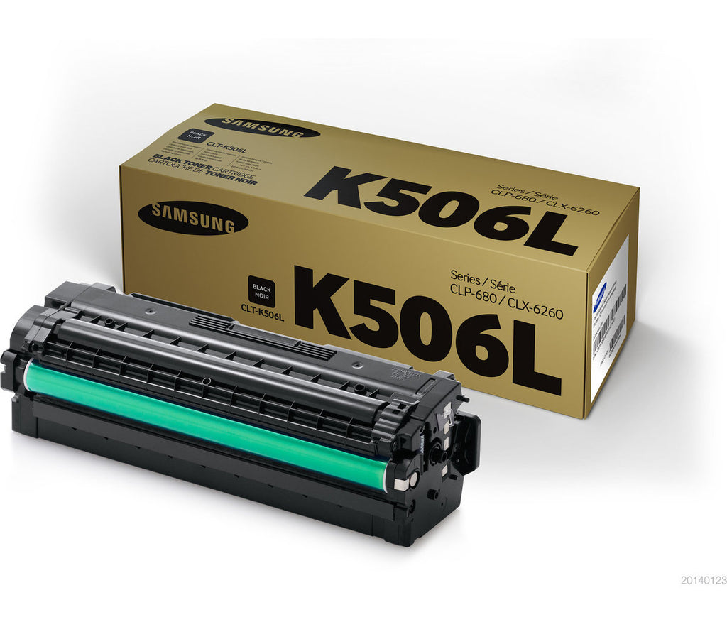 OEM Samsung CLT-K506L, SU175A Toner Cartridge Black - High Yield - 6K