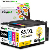 Starink Compatible HP 950XL, 951XL Ink Cartridges, Black, Cyan, Yellow, Magenta 4 Pack