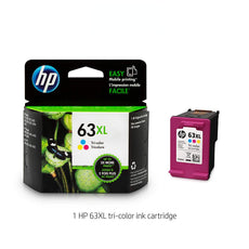 OEM HP 63XL, F6U63A Ink Cartridge Tri-Color High Yield - 330 Pages