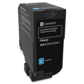 Lexmark 74C1SC0 OEM Toner Cartridge For CX725 Cyan - 7K