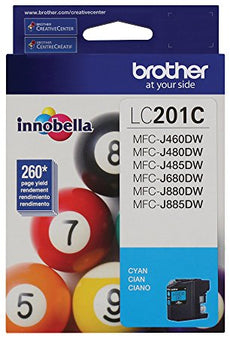 OEM Brother LC201C, LC-201 Ink Cartridge For MFC-J460DW Cyan - 260