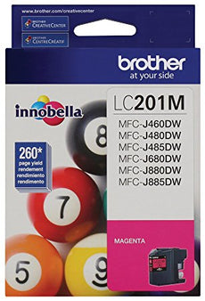 OEM Brother LC201M, LC-201 Ink Cartridge - Magenta - 260 Pages