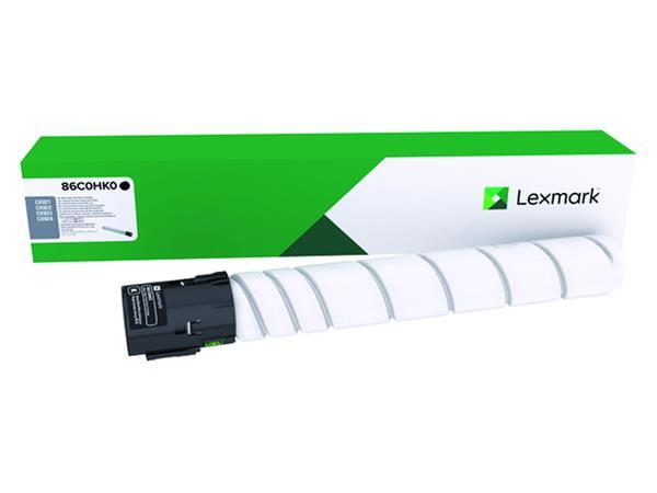 Lexmark 86C0HK0 OEM Toner Cartridge - Black - High Yield - 34K