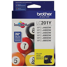 OEM Brother LC201Y, LC-201 Ink Cartridge For MFC-J460DW Yellow - 260