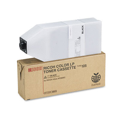 Ricoh 885372, Type 105 OEM Toner Cartridge For Aficio AP3800C Black - 20K