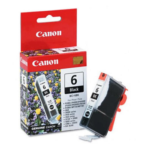 OEM Canon 4705A003, BCI-6BK Ink Cartridge - Black - 370 Pages