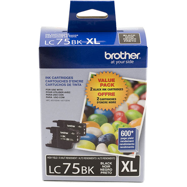 OEM Brother LC752PKS Ink Cartridges Twin Pack - High Yield (2 x 600 Yield)