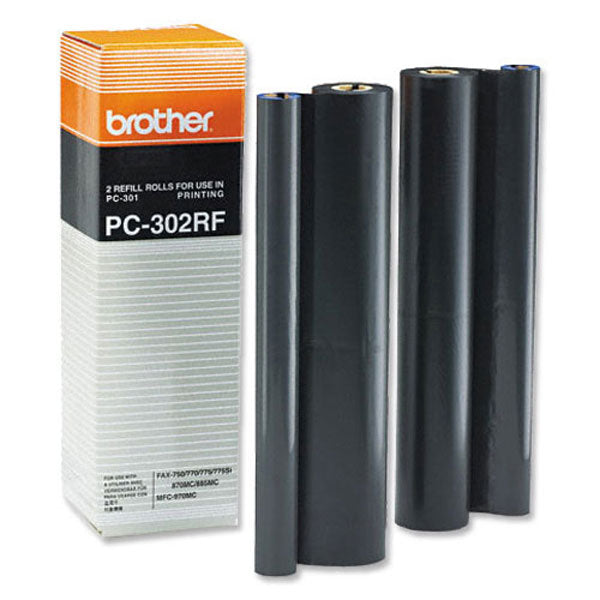 Brother PC-302RF Print Cartridge 2-Pack (2 x 250 Yield) (PC301 Refill Kit)