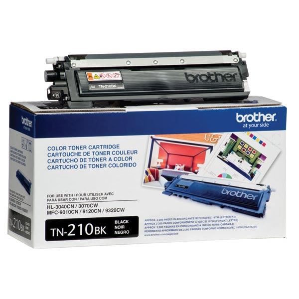 OEM Brother TN-210BK, TN210BK Toner Cartridge For HL-3040CN Black - 2.2K