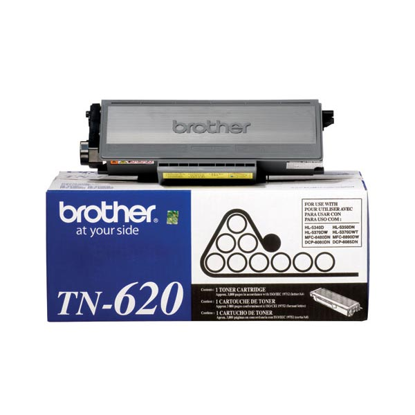OEM Brother TN-620, TN620 Toner Cartridge For HL-5340D Black - 3K