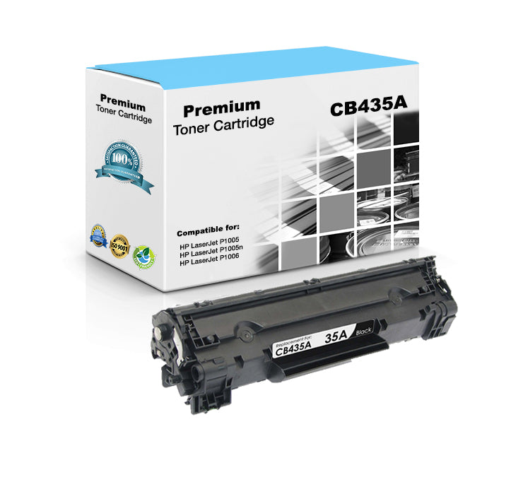 Compatible HP CB435A, 35A Toner Cartridge For LaserJet P1005, P1006 Black - 1.5K