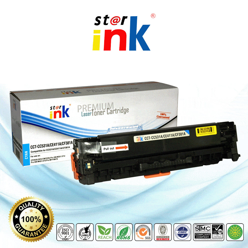 StarInk Compatible HP CF381A, 312A Toner Cartridge Cyan - 2.7K