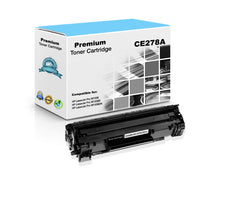 Compatible HP CE278A, 78A Toner Cartridge - Black - 2.1K
