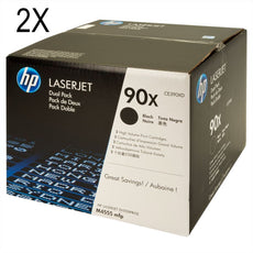 OEM HP 90X, CE390XD (2 Pack) LaserJet Toner Cartridges Black - 48K