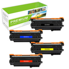 Compatible HP 507A Toner Cartridges CE400A, CE401A, CE402A, CE403A Value Pack