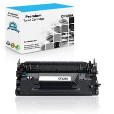 Compatible HP CF226A, 26A Toner Cartridge - Black - 3.1K