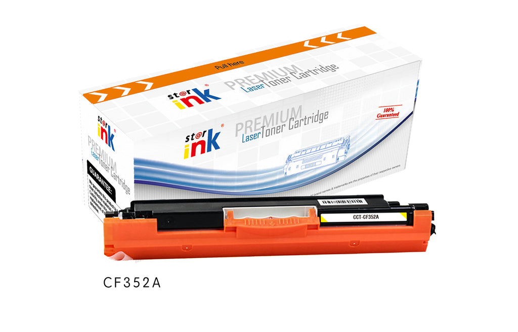 StarInk Compatible HP CF352A, 130A Toner Cartridge - Yellow 1000 Pages