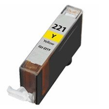 Compatible Canon CLI-221Y, 2949B001 Ink Cartridge - Yellow - 535 Pages