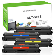 Compatible Samsung CLT-504 Toner Cartridges for Black, Cyan, Yellow, Magenta - Value Pack