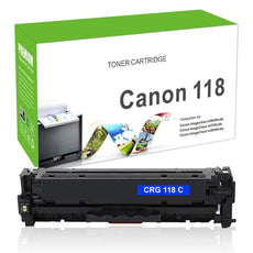 Compatible Canon 118, CRG-118C, 2661B001 Toner Cartridge For imageClass MF8580 Cyan - 2.8K