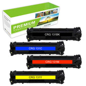 Combo Set Canon 131 Toner Cartridge Compatible with 6269B001, 6270B001, 6271B001, 6273B001