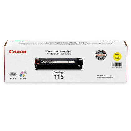 Original Canon 116, CRG116, 1977B001 Toner Cartridge Yellow - 1.5K
