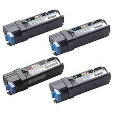 Compatible Dell 2150 Toner Cartridges for Black, Cyan, Yellow, Magenta - Value Pack
