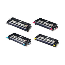 Compatible Dell 3110 Toner Cartridges for Black, Cyan, Yellow, Magenta - Value Pack