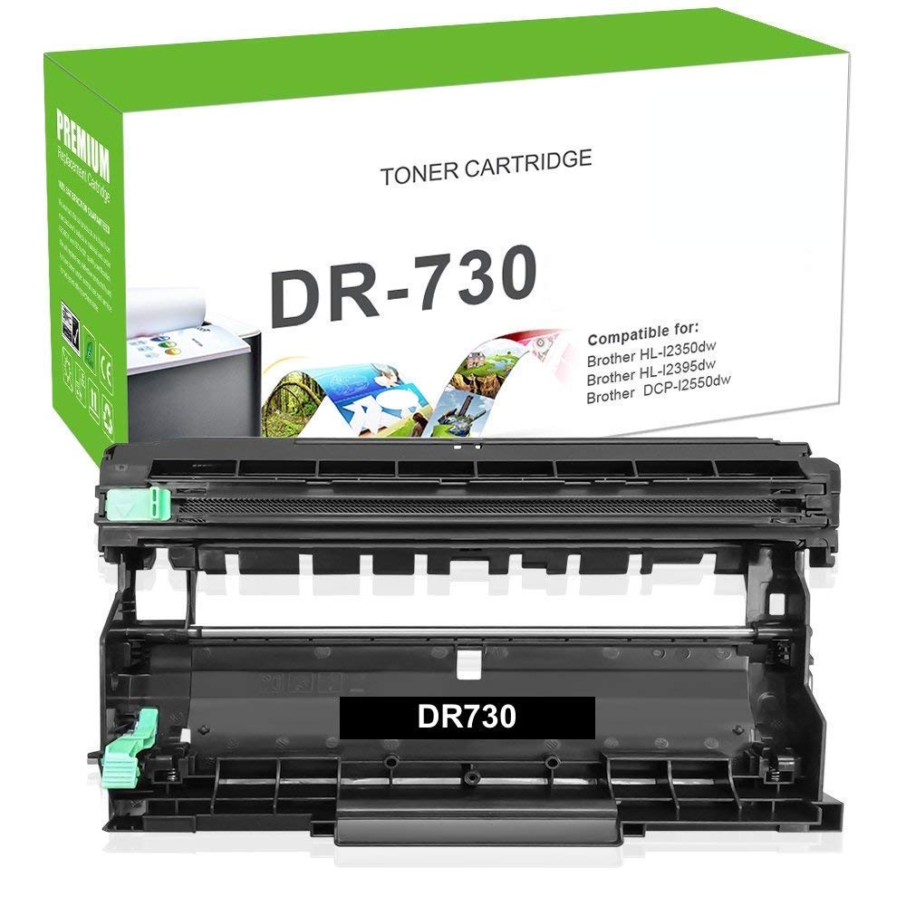 Compatible Brother DR-730, DR730 Imaging Drum - Black - 12000 Pages