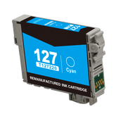 Compatible Epson 127, T1272, T127220 Ink Cartridge For Workforce 630 Cyan - 755