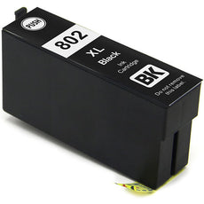 Compatible Epson T802XL, T802XL120 Ink Cartridge Black High Yield- 2.6K