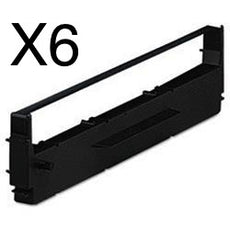 Compatible Epson ERC19, ERC-19 Ribbon For MX880 Black - 6/Pack